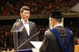 修士学位記を授与される大学院生代表