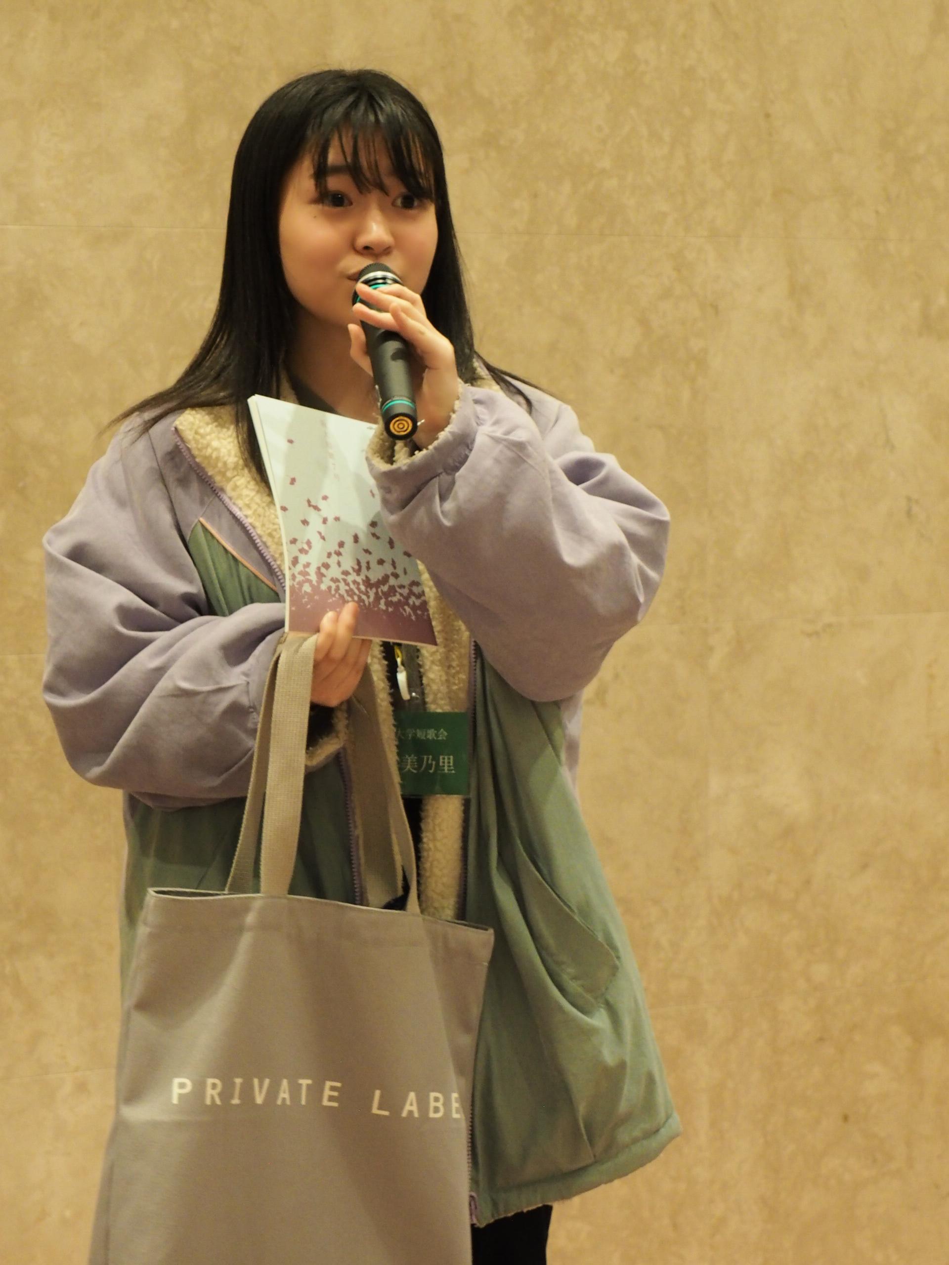 栗木京子賞を受賞した竹村美乃里さん(提供=角川『短歌』編集部)