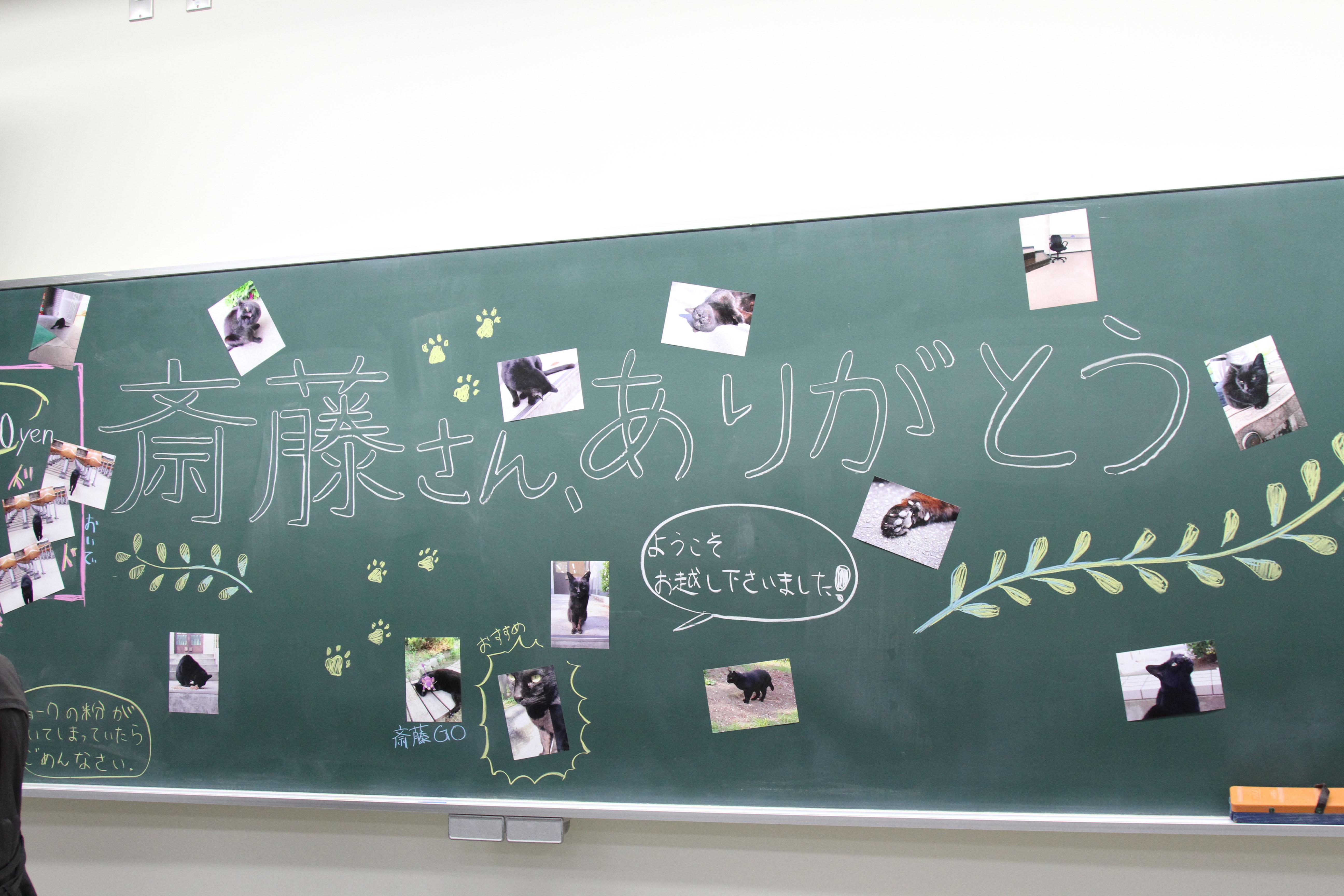 調査隊のメンバーが書いたコメントとともに展示される写真(撮影=児玉七海)