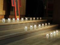礼拝堂で阪神大震災チャペル