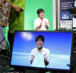 【写真】大阪電気通信大のCG体験(撮影=山﨑祐貴)